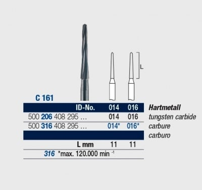 Фреза за сепариране на корени ELA C 161 / 014