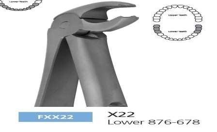 Екстракционни клещи за долни премолари X22