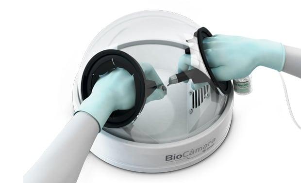 Контейнер за безпрахова работа с  микробластер